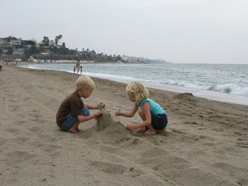 Eden & Cole in the Sand